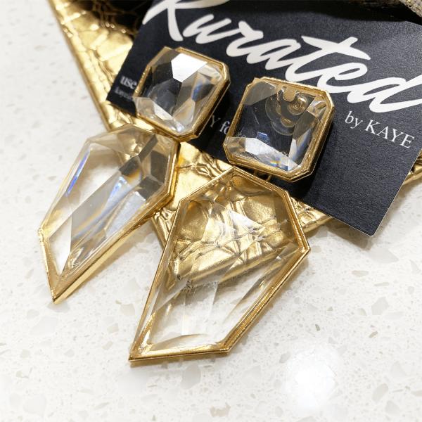 crystal gems earrings