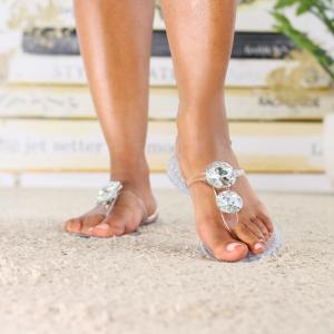 embellished jelly slingback sandal