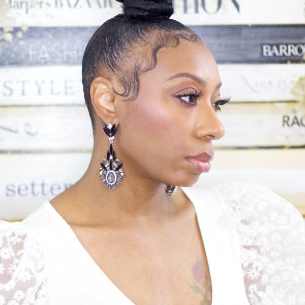 crystal rhinestone statement earring