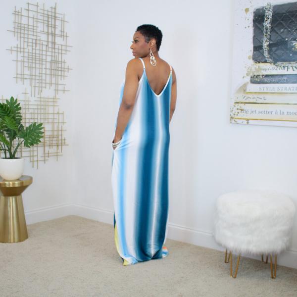 Ombre Stripe Maxi Dress