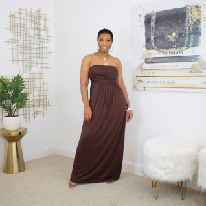 bandeau top maxi dress