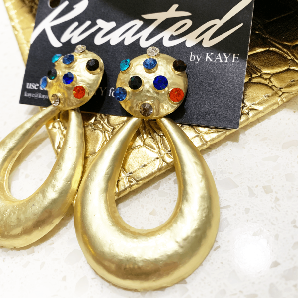 Egyptian royalty earrings