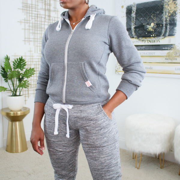 zip up hoodie jogger pants set
