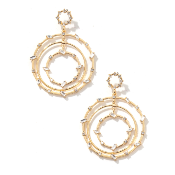 layered hoop statement earrings