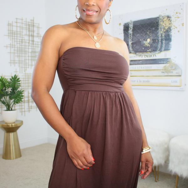 bandeau top maxi dress