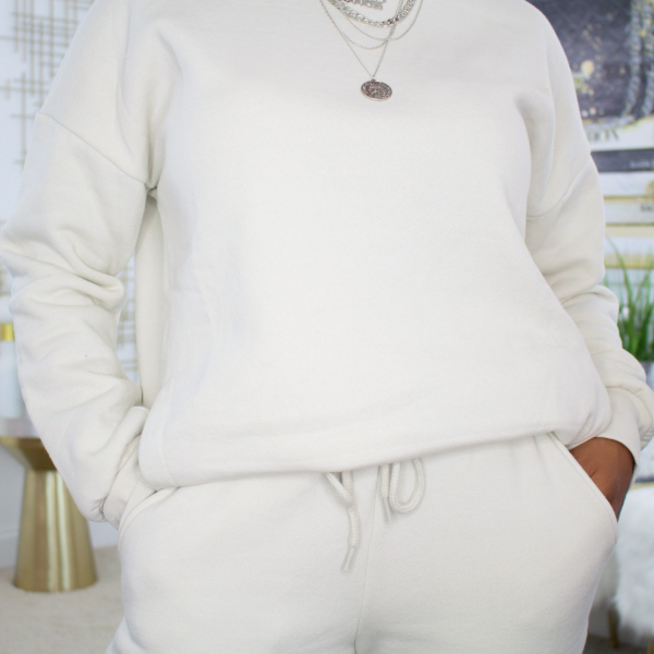 crewneck sweatpants set (bone)