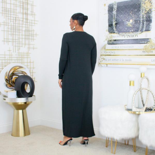 black cardigan bodysuit set