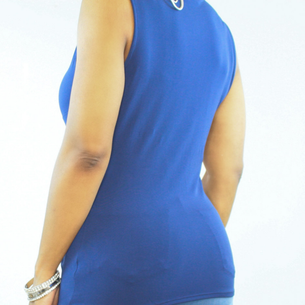 Sleeveless Front Knot Top Navy