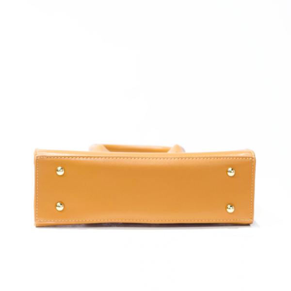 Double Handle Square Handbag (Burnt Orange)