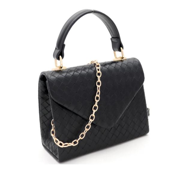 Textured Mini Handbag (Black)
