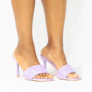 Braided Square Toe Mule (Lavender)