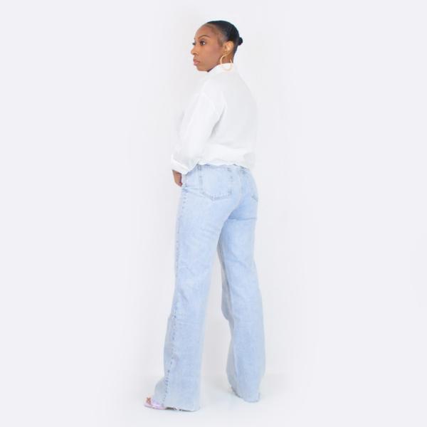 High Waist Wide Leg Jeans (Light Wash)