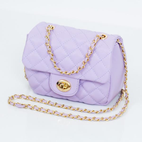 mini quilted crossbody handbag (lavender)
