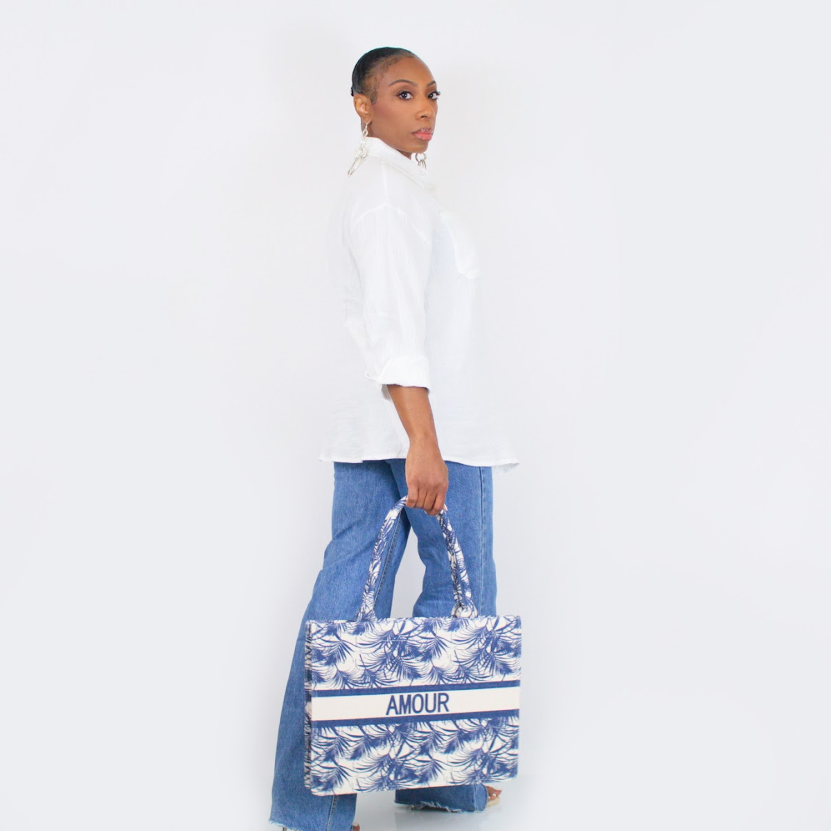 Amour Book Tote (Navy)