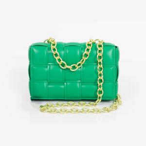 Woven Cassette Handbag (Green)