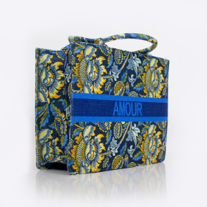 Amour Book Tote (Blue Floral)